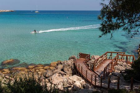 A beautiful beach near Kavo Greko (Cape Greco) in Cyprus Stock Photo