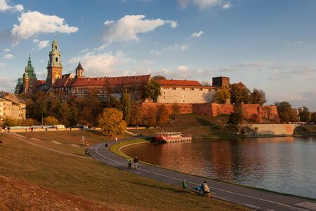 Krakow, Poland - October 25, 2006: The gothic Wawel Castle at sunset Stock Photo - 17298368