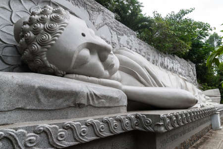 The marble statue of sleeping Buddha in Nha Trang, Vietnam