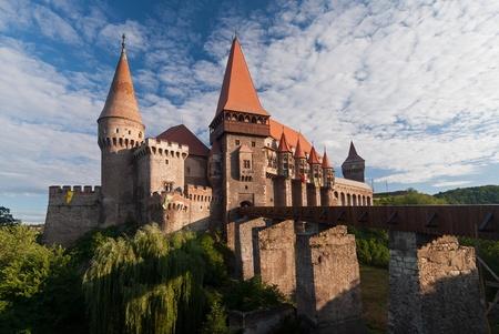 gothic castle: Hunedoara, Romania - August 5, 2008: Corvins (or Hunyadi) Castle