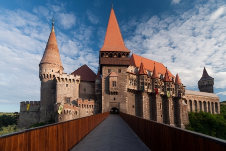 Hunedoara, Romania - August 5, 2008: Corvins (or Hunyadi) Castle