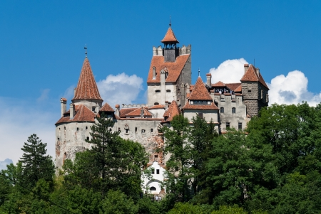 Bran, Romania - July 29, 2008: The Bran Castle, commonly known as Draculas Castle