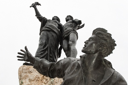 martyr: Beirut, Lebanon - December 29, 2005: The Monument of the Martyrs, heroes of Lebanese independence Editorial