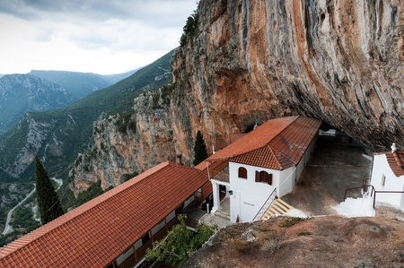 arkadia: Peloponnese, Greece - October 11, 2011: The Monastery of Elona, dedicated to Virgin Mary
