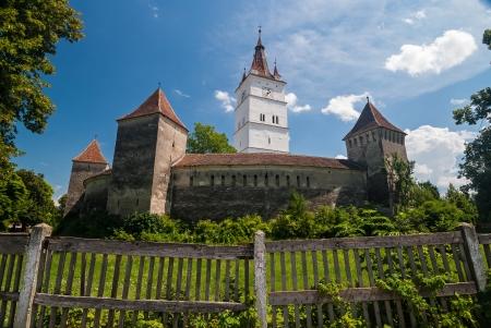 View of the Prejmer Fortified Church, a UNESCO World Heritage site in Transylvania, Romania Фото со стока
