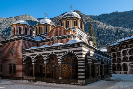 The famous Monastery of Saint Ivan of Rila, better known as the Rila Monastery, a UNESCO World Heritage site in Bulgaria