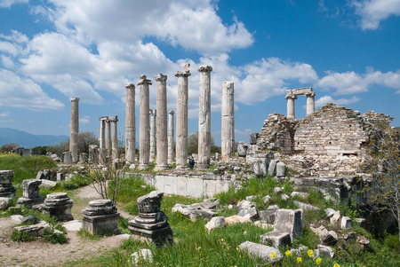 ancient greek: The Temple of Aphrodite in the ancient Greek city of Afrodisias in Geyre, Turkey Stock Photo