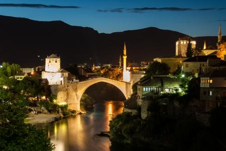 mostar: The Old Bridge in Mostar, Bosnia and Herzegovina