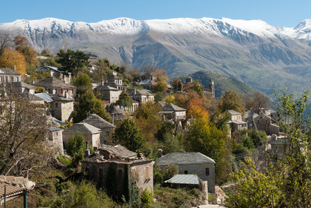 View of the traditional village of Sirako in Epirus, Greece Stock Photo