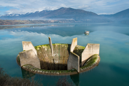 View of Lake Ohrid, the deepest lake of the Balkans, in Republic of Macedonia  Stock Photo
