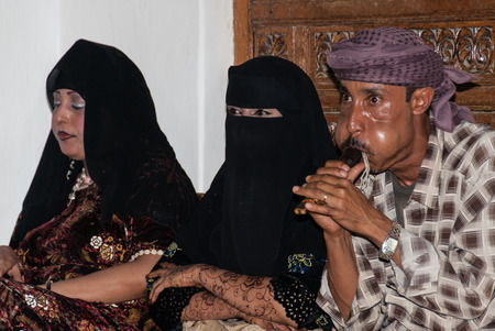 Two unidentified dancers and one musician during a local feast on May 8, 2007 in Sanaa, Yemen. Among other arabic countries, in 2012 Yemen became a site of civil conflicts, which still continue.