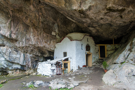 Church in a cave of Mount Olympus, Greece