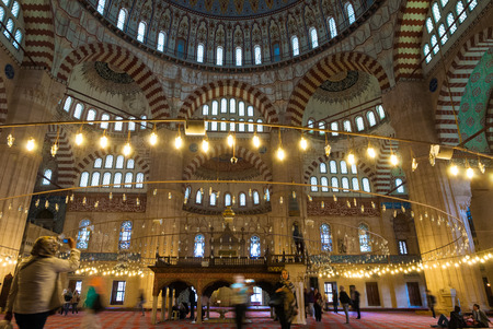 selimiye mosque: View of the Selimiye Mosque on May 5, 2015 in Edirne, Turkey. Built by famous architect Mimar Sinan between 1569 and 1575, the Selimiye Mosque was considered by Sinan to be his masterpiece and is one of the highest achievements of Islamic architecture. Editorial