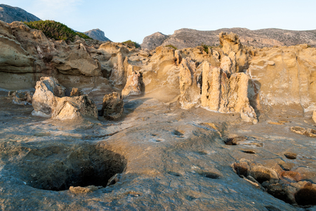laconia: View of the petrified forest near Cape Maleas in Laconia, Greece Stock Photo