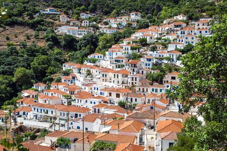 laconia: View of the traditional village of Velanidia in Peloponnese, Greece