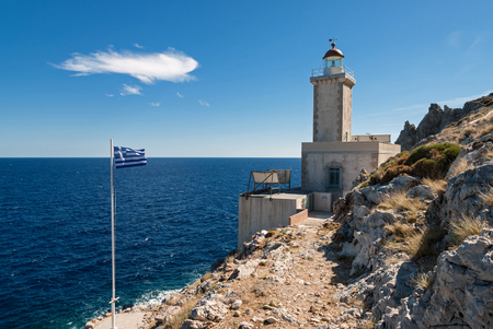 laconia: The historic lighthouse at Cape Maleas in Peloponnese, Greece