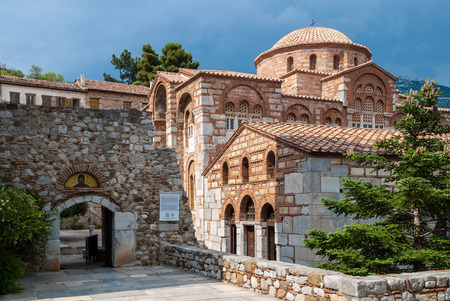 Part of the historic, listed by UNESCO, Hosios Loukas Monastery in Greece