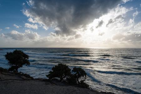 kos: Cloudscape in winter in Kos island, Greece