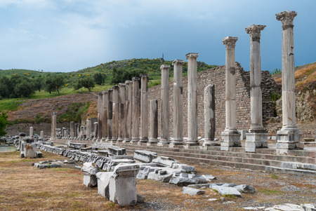 The Sanctuary of Asclepius in the archaeological site of Pergamum in Bergama, Turkey