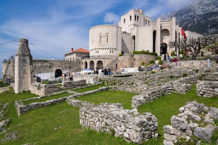 The Skanderbeg Museum within the castle of Kruje in Albania