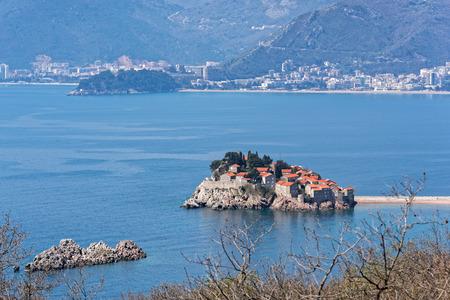 islet: The islet of Sveti Stefan near Budva in Montenegro