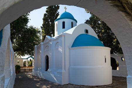 kos: Small traditional church at sunset in Kos island, Greece