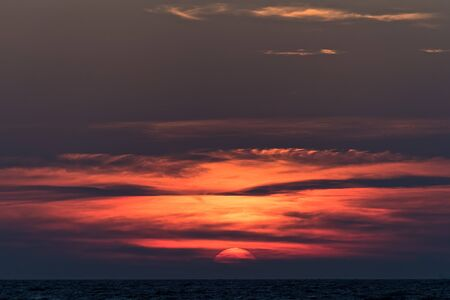 spectacular: Spectacular sunset in the sea in Kos island, Greece