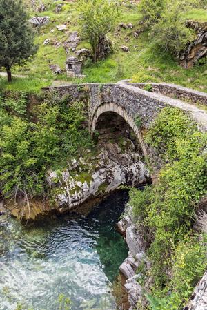 Traditional stone bridge in Thessalia, Greece