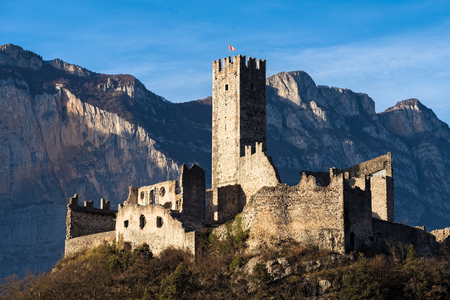 castel: View of Drena castle in Trentino, Italy