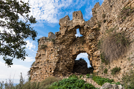 The main gate of the Old Navarino castle or Paliokastro in Peloponnese, Greece