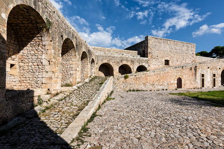 View of the interior of Niokastro castle in the city of Pylos in Peloponnese, Greece Stock Photo