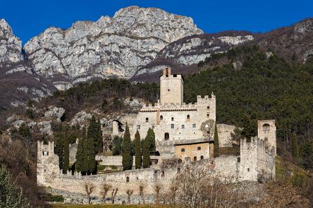 View of the Avio castle in Trentino, Italy