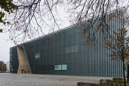 View of the Polin Museum, a Museum of the History of Polish Jews, on October 22, 2017 in Warsaw, Poland