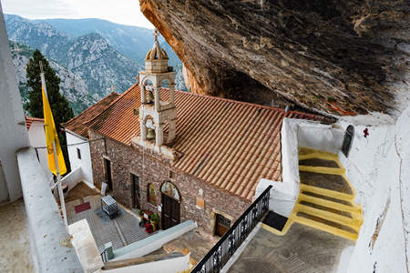 The church of the historical Monastery of Panagia Elona, dedicated to Virgin Mary, in Peloponnese, Greece