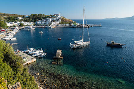 Vie of the harbor of Linaria in Skyros island, Greece