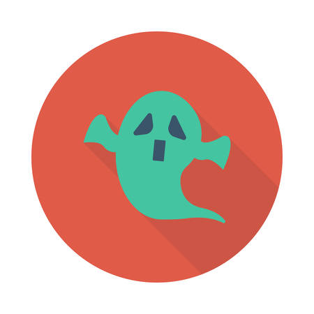 Scary ghost icon.