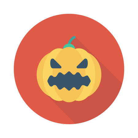 Pumpkin for Halloween icon. Illustration