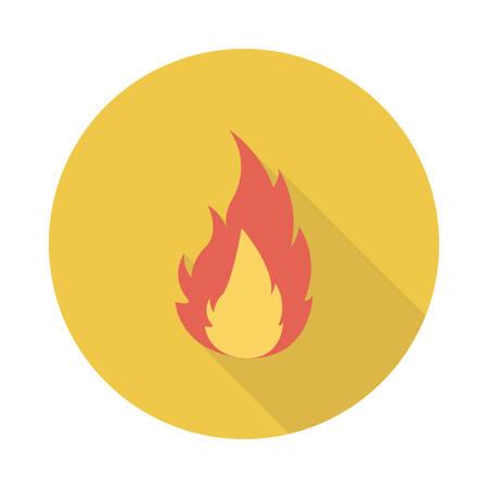 Flame icon. Illustration