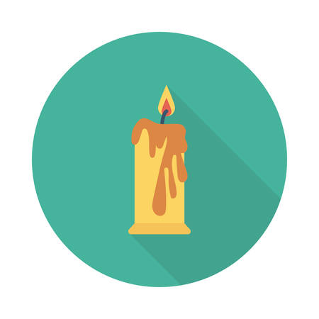 Lighted candle icon.