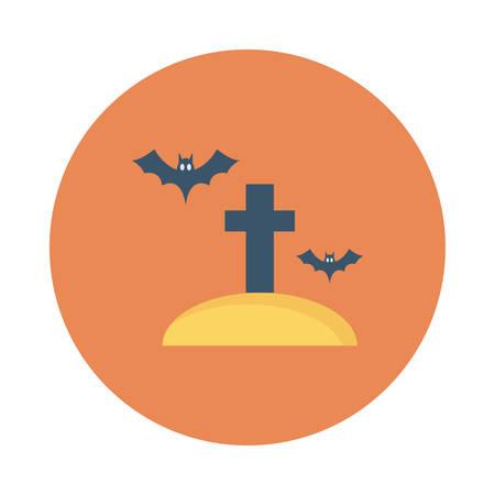 Cemetery icon. Ilustrace