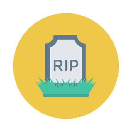 Grave icon. Ilustracja