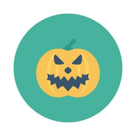 Halloween pumpkin icon. Ilustração
