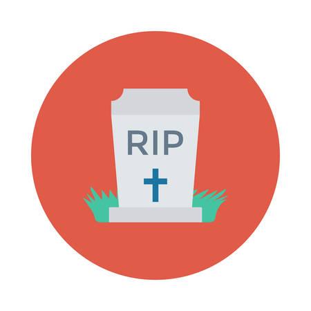 삭제 표시, RIP, 만화 그림에서 색된 동그라미 안에. 일러스트