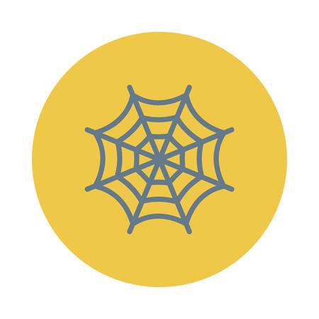 Spinnewebhalloween-concept in kleurrijke, beeldverhaalillustratie. Stock Illustratie