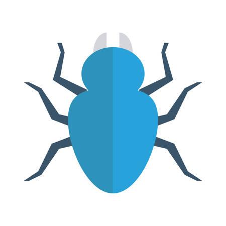 Insect, Halloween-concept in kleurrijke, beeldverhaalillustratie.
