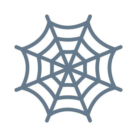Spinneweb, Halloween-concept in kleurrijke, beeldverhaalillustratie