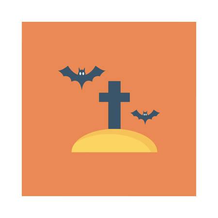 Cemetery icon. Illustration