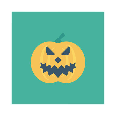 Halloween pumpkin icon. Illustration