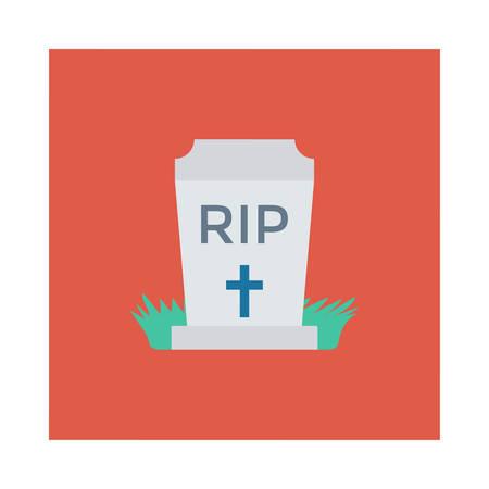 Halloween coffin icon. Ilustracja