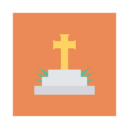 Halloween-Sarg-Symbol. Standard-Bild - 88395304